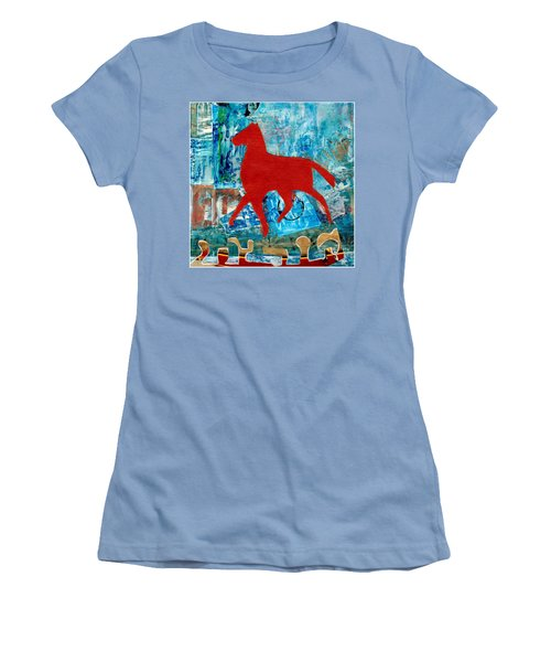Carousel Women's T-Shirt (Junior Cut) by Patricia Cleasby