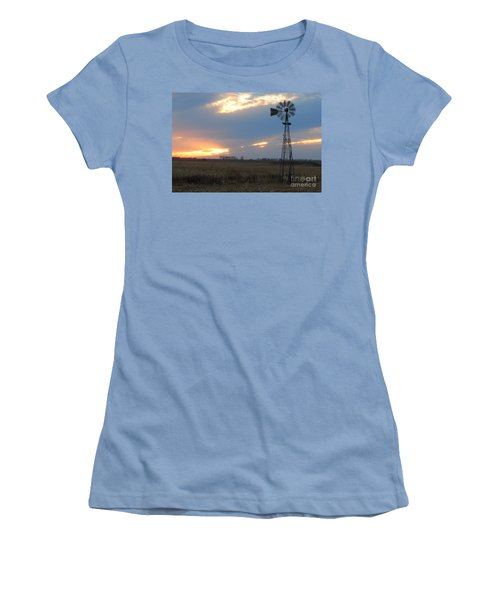 Catching The Wind In South Dakota Women's T-Shirt (Junior Cut) by Mary Carol Story
