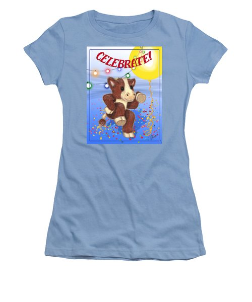 Celebrate Women's T-Shirt (Junior Cut) by Jerry Ruffin
