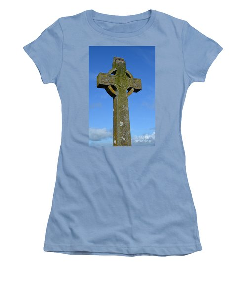 Celtic Stone Cross In Ireland Women's T-Shirt (Athletic Fit)