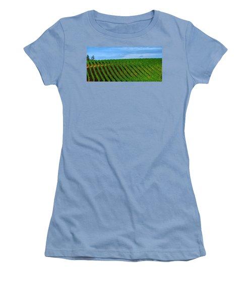 Chardonnay Sky 17990 Women's T-Shirt (Junior Cut) by Jerry Sodorff