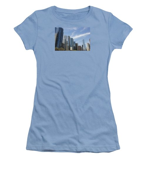 Chicago Skyscrapers Women's T-Shirt (Junior Cut) by The Art of Alice Terrill