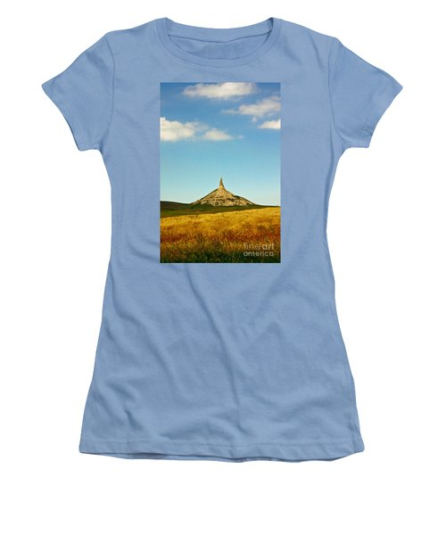 Chimney Rock Nebraska Women's T-Shirt (Junior Cut) by Robert Frederick