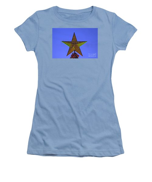 Christmas Star During Dusk Time Women's T-Shirt (Athletic Fit)