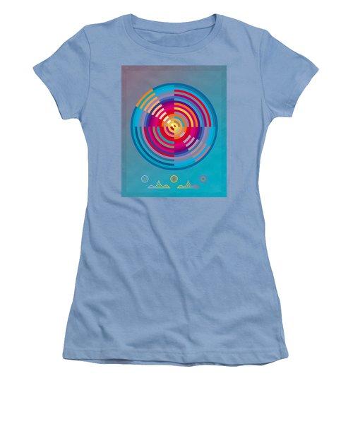 Circles Women's T-Shirt (Junior Cut) by David Klaboe