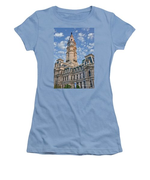 City Hall Clock Tower Downtown Phila Pa Women's T-Shirt (Athletic Fit)