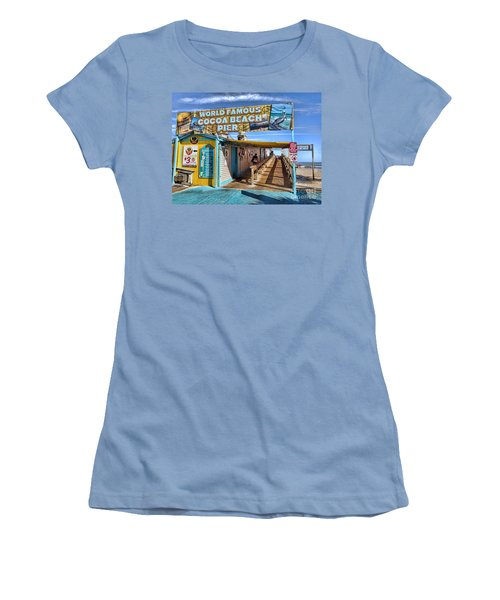 Cocoa Beach Pier In Florida Women's T-Shirt (Athletic Fit)
