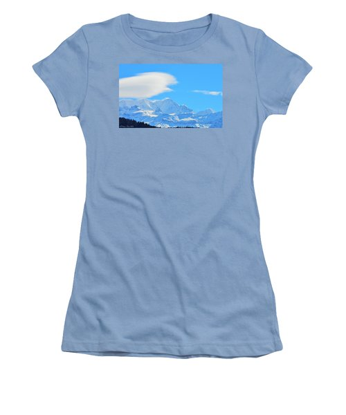 Cold And Sunny Alps Women's T-Shirt (Athletic Fit)