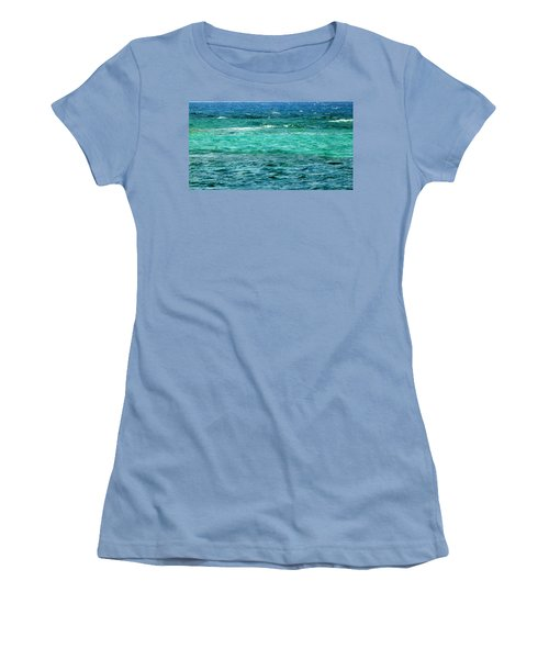 Colors Of The Sea  Women's T-Shirt (Athletic Fit)