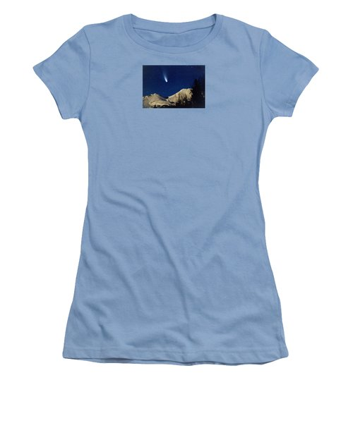 Comet Hale Bopp Rising Over Mount Shasta 01 Women's T-Shirt (Athletic Fit)