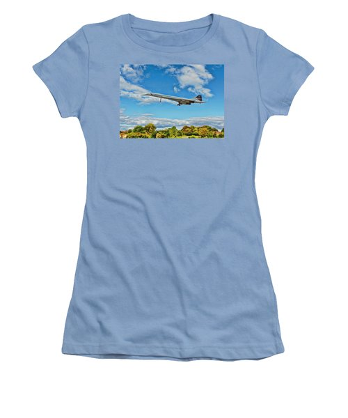 Concorde On Finals Women's T-Shirt (Junior Cut) by Paul Gulliver