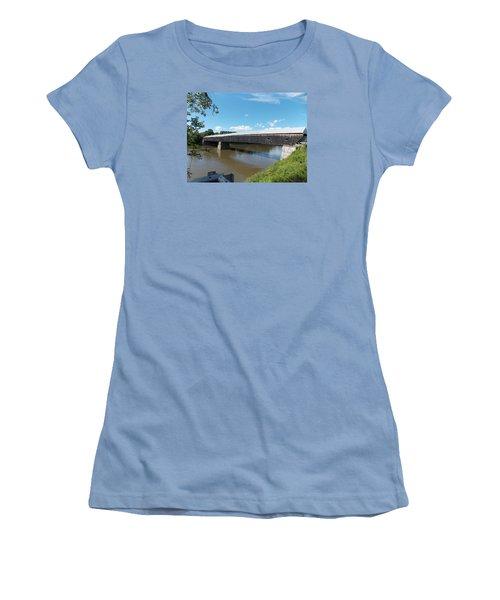 Cornish Windsor Bridge Women's T-Shirt (Athletic Fit)