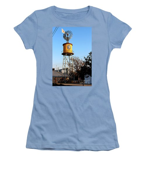 Cotton Belt Route Water Tower In Grapevine Women's T-Shirt (Athletic Fit)