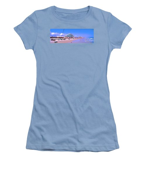 Daytona Main Street Pier And Beach  Women's T-Shirt (Athletic Fit)