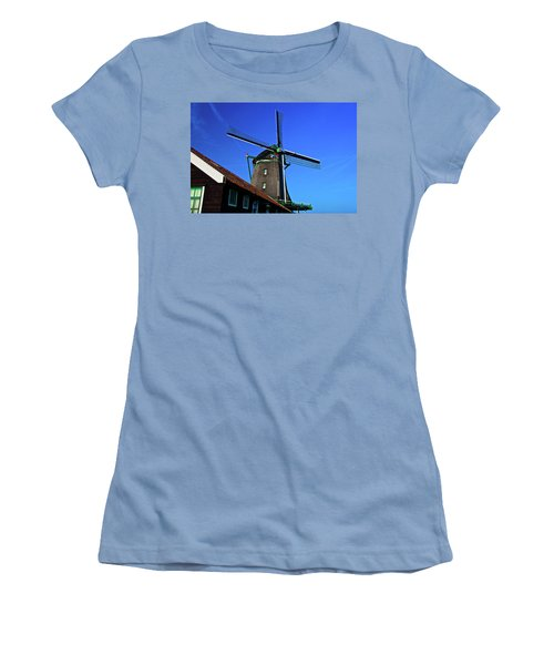 Women's T-Shirt (Junior Cut) featuring the photograph De Zoeker Blue Skies by Jonah  Anderson