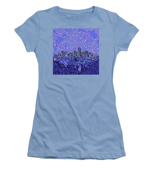 Denver Skyline Abstract 4 Women's T-Shirt (Athletic Fit)