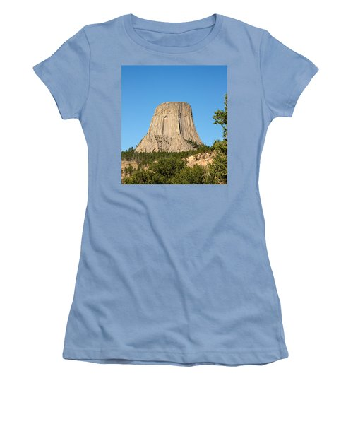 Women's T-Shirt (Junior Cut) featuring the photograph Devils Tower by John M Bailey