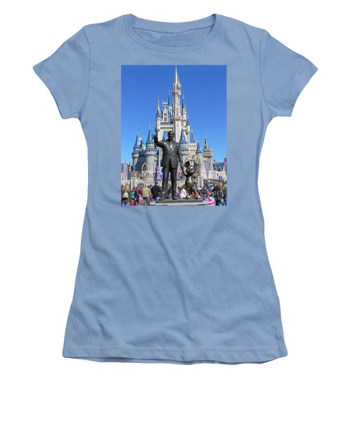 Disney And Mickey Women's T-Shirt (Athletic Fit)