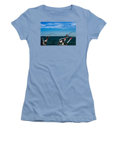 Downriggers Women's T-Shirt (Athletic Fit)