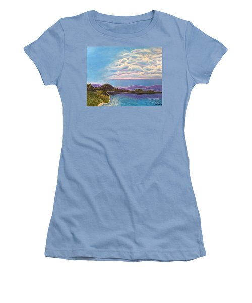 Women's T-Shirt (Junior Cut) featuring the painting Dreamscapes by Kimberlee Baxter