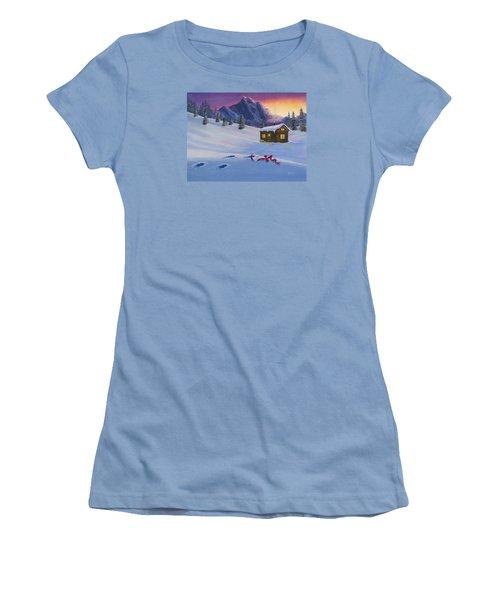Early Christmas Morn Women's T-Shirt (Junior Cut) by Jack Malloch