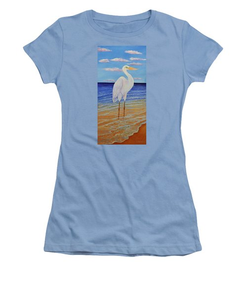 Eager Egret  Women's T-Shirt (Athletic Fit)