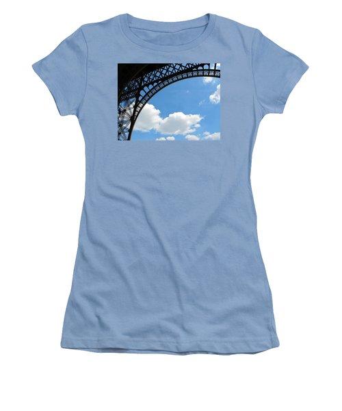 Eiffel Clouds Women's T-Shirt (Athletic Fit)
