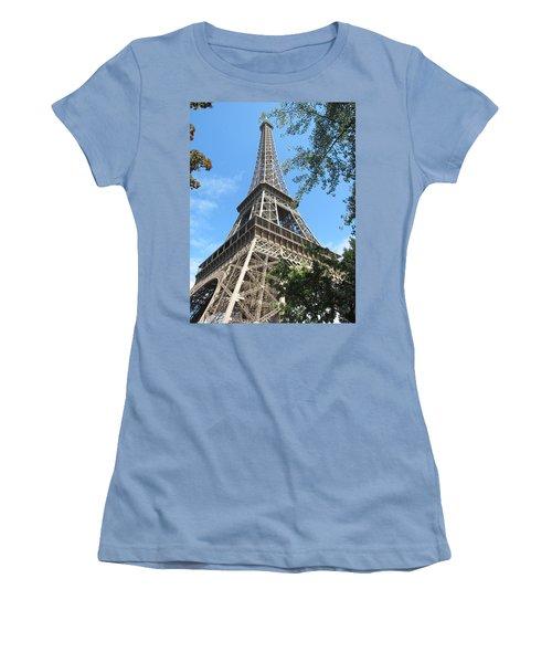 Women's T-Shirt (Junior Cut) featuring the photograph Eiffel Tower - 2 by Pema Hou