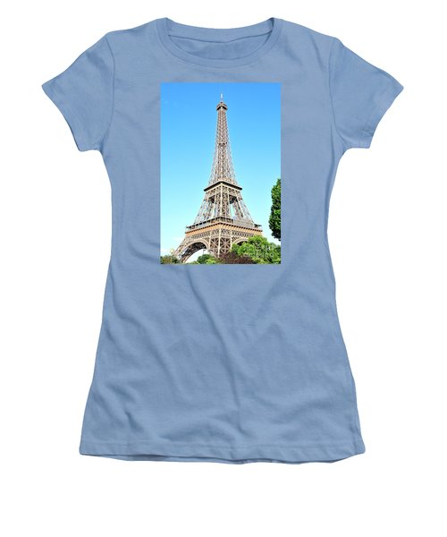 Women's T-Shirt (Junior Cut) featuring the photograph Eiffel Tower by Joe  Ng
