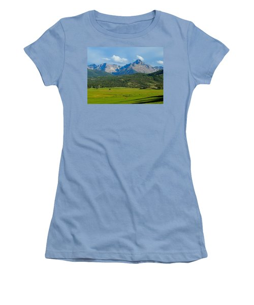 Elk Below Mount Sneffels Women's T-Shirt (Athletic Fit)