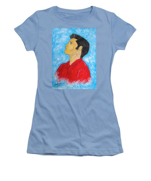 Elvis Presley Singing Women's T-Shirt (Athletic Fit)