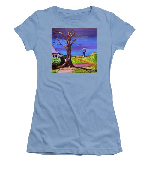 End Of Day Highway 98 Women's T-Shirt (Junior Cut) by Ecinja Art Works