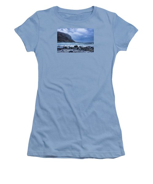 Evening At The Seaside In Rain Women's T-Shirt (Athletic Fit)