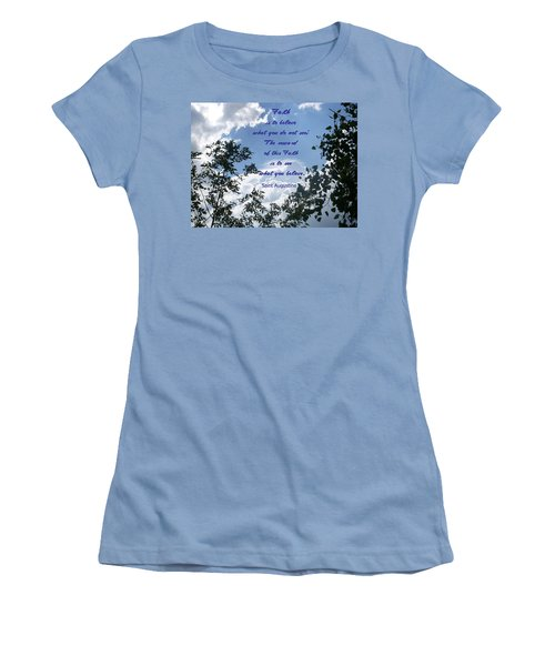 Women's T-Shirt (Junior Cut) featuring the photograph Faith by Aimee L Maher Photography and Art Visit ALMGallerydotcom