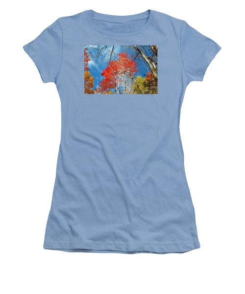 Women's T-Shirt (Junior Cut) featuring the photograph Fall Sky by Patrick Shupert