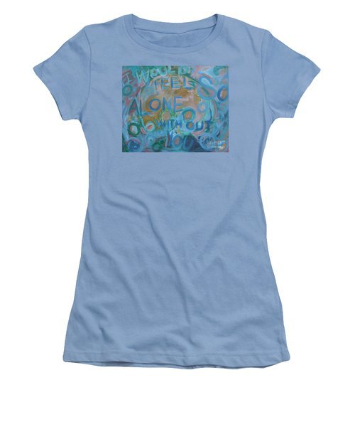 Feel One With You Women's T-Shirt (Athletic Fit)