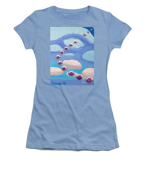 Women's T-Shirt (Junior Cut) featuring the painting Finding Personal Peace by Rod Ismay