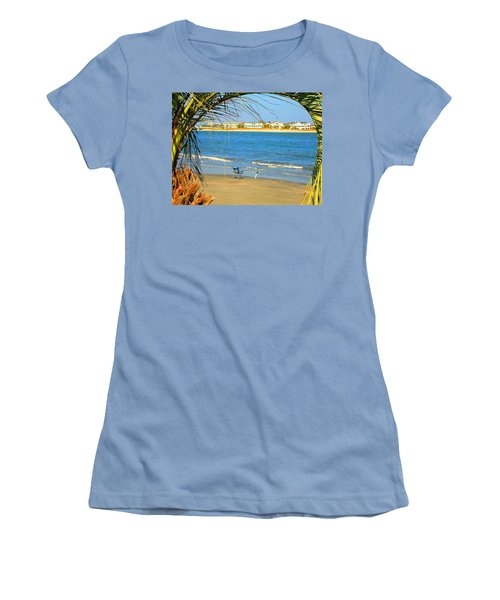 Fishing Paradise At The Beach By Jan Marvin Studios Women's T-Shirt (Athletic Fit)