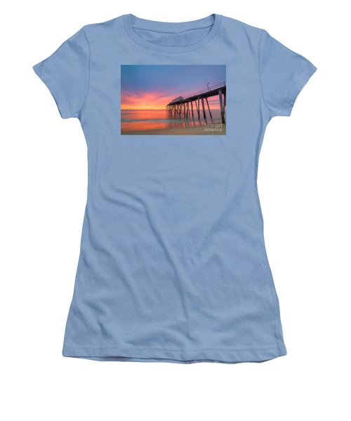 Fishing Pier Sunrise Women's T-Shirt (Athletic Fit)