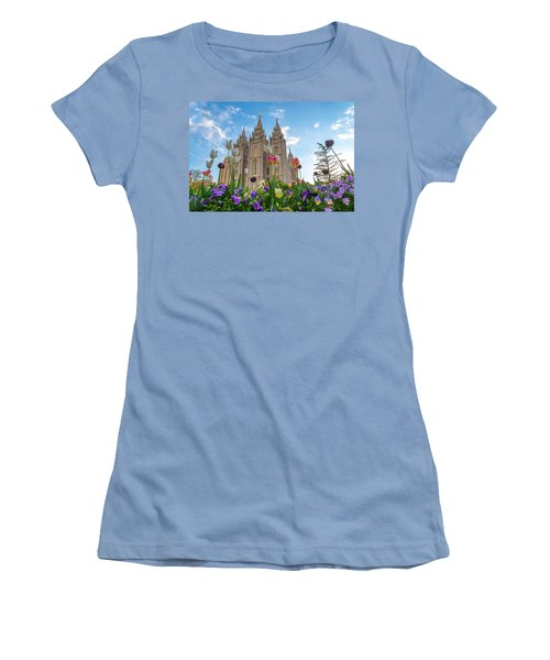 Flowers At Temple Square Women's T-Shirt (Athletic Fit)