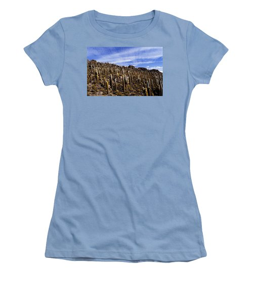 Forest Of Cacti Women's T-Shirt (Junior Cut) by Lana Enderle