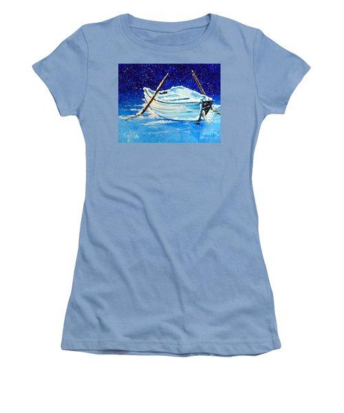 Forgotten Rowboat Women's T-Shirt (Junior Cut) by Jackie Carpenter