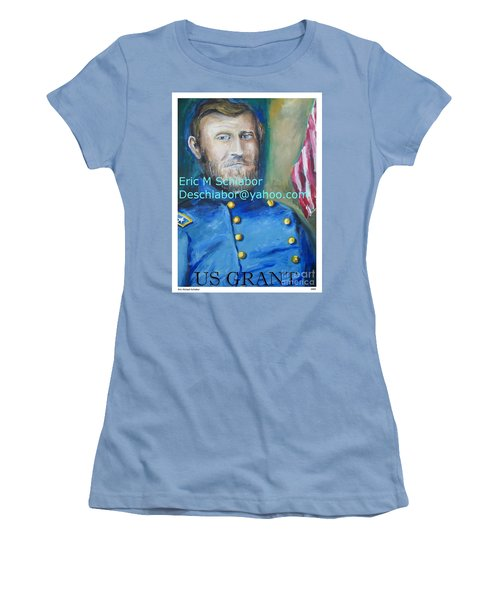 Women's T-Shirt (Junior Cut) featuring the painting General Us Grant  by Eric  Schiabor