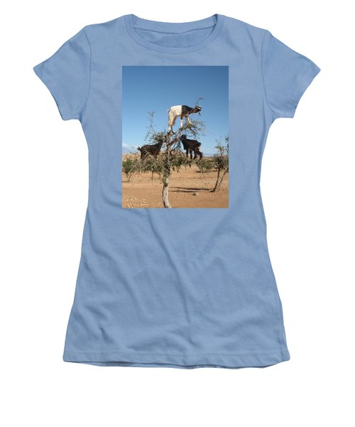 Goats In A Tree Women's T-Shirt (Athletic Fit)