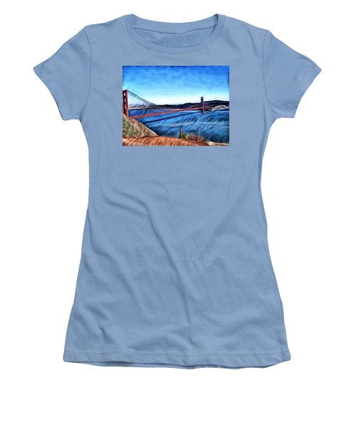 Windy Day At Golden Gate Bridge Women's T-Shirt (Athletic Fit)