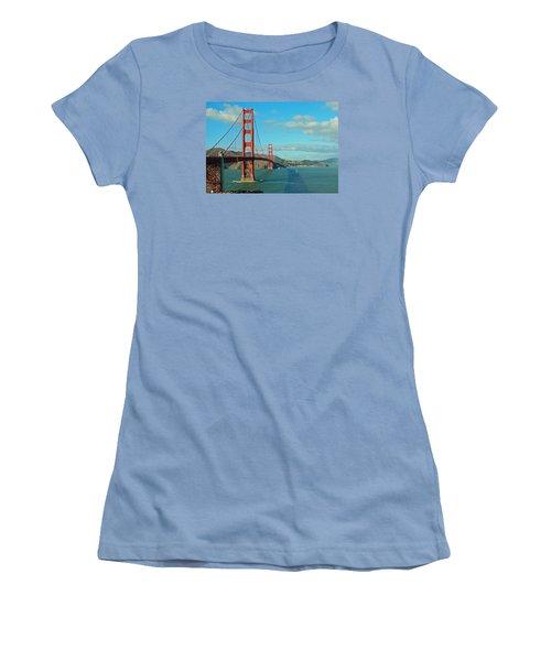 Golden Gate Bridge Women's T-Shirt (Junior Cut) by Emmy Marie Vickers
