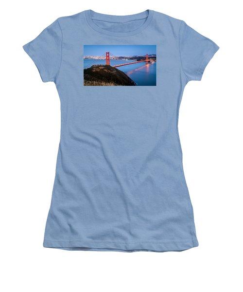 Women's T-Shirt (Junior Cut) featuring the photograph Golden Gate Bridge by Mihai Andritoiu