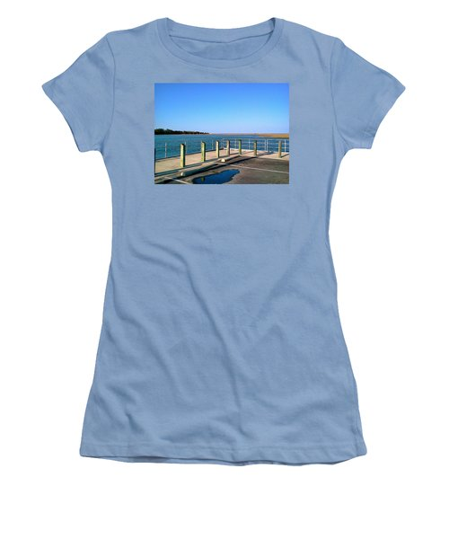 Great Day For Fishing In The Marsh Women's T-Shirt (Junior Cut) by Amazing Photographs AKA Christian Wilson