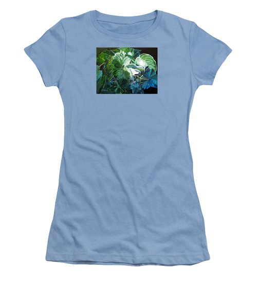 Green Leaves Study Women's T-Shirt (Junior Cut) by LaVonne Hand