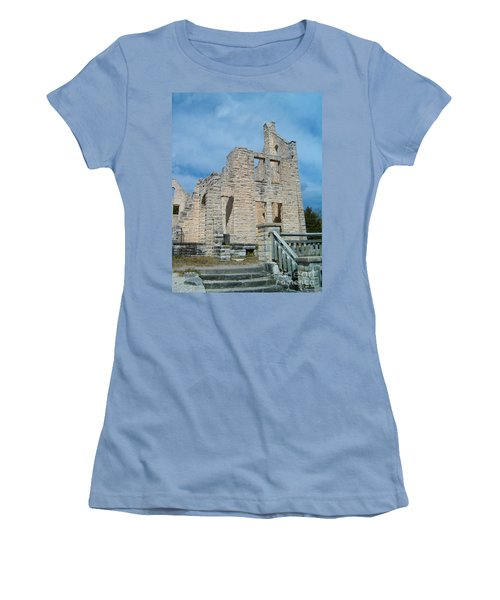 Women's T-Shirt (Junior Cut) featuring the photograph Haha Tonka Castle 2 by Sara  Raber
